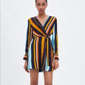 NWT's Zara Wrap Dress Multi Color Small & Medium